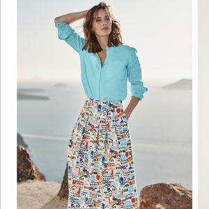 Boden 100% Linen Button Up Long Sleeve Shirt